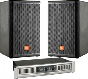 JBL MRX-515 With QSC GX5 Amp